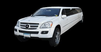 Stretch Mercedes GL White 14 passengers